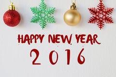 Szczęśliwy nowy rok 2016 na białym tle Zdjęcia Stock