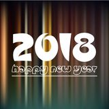 Szczęśliwy nowy rok 2018 na ciemnego koloru night line tle eps10 ilustracji