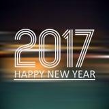 Szczęśliwy nowy rok 2017 na ciemnego koloru nocy horyzontalnym abstrakcjonistycznym tle eps10 Obraz Royalty Free