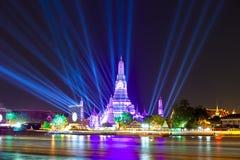 Szczęśliwy nowy rok 2016, odliczanie 2016 przy Watem ArunTemple, Wat Arun przy Fotografia Stock