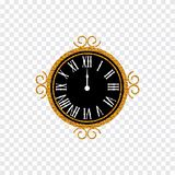 Szczęśliwy nowy rok 2019 2007 pozdrowienia karty szczęśliwych nowego roku Nowego Roku przejrzysty tło z złoto zegarem royalty ilustracja