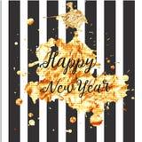 Szczęśliwy nowy rok 2017 również zwrócić corel ilustracji wektora Obrazy Royalty Free