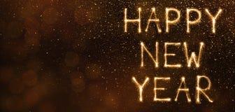 Szczęśliwy nowy rok robić błyska na brown tle ilustracji