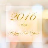 Szczęśliwy nowy rok 2016 rok na abstrakcjonistycznym plamy bokeh tle Obraz Royalty Free