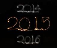 Szczęśliwy nowy rok - 2015 sparkler Zdjęcia Royalty Free