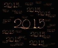 Szczęśliwy nowy rok - 2015 sparkler Obraz Stock