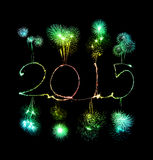 Szczęśliwy nowy rok - 2015 sparkler Zdjęcia Stock