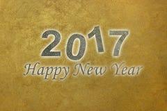 Szczęśliwy nowy rok 2017 szczęśliwego nowego roku tło pozyskiwania ilustracyjny błyskawica nocne niebo Zdjęcie Stock