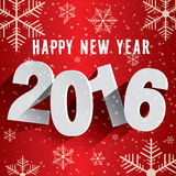 Szczęśliwy nowy rok 2016 Tło z płatkami śniegu Obrazy Stock