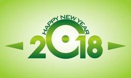 Szczęśliwy nowy rok 2018 w Jeden różnica kształty ilustracji