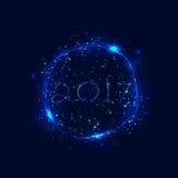 Szczęśliwy nowy rok 2017 wakacji tło 2017 Szczęśliwych nowy rok Obraz Stock