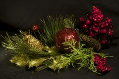 Szczęśliwy nowy rok, wesoło boże narodzenia, Bożenarodzeniowy skład obrazy royalty free