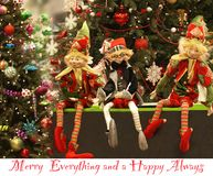 Szczęśliwy nowy rok, Wesoło Szczęśliwy i Everytings Zawsze obraz royalty free