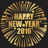 Szczęśliwy nowy rok złoty Zdjęcia Stock