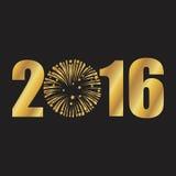 Szczęśliwy nowy rok złoty Obraz Stock