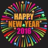 Szczęśliwy nowy rok złoty Fotografia Stock