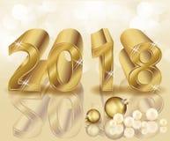 Szczęśliwy Nowy 2018 rok złoty tło Zdjęcie Stock