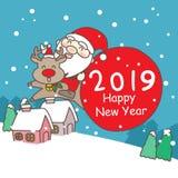 Szczęśliwy nowy rok z 2019 fotografia royalty free