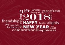 Szczęśliwy nowy rok 2018 z fajerwerkami ilustracja wektor