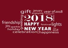 Szczęśliwy nowy rok 2018 z fajerwerkami ilustracji