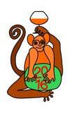 Szczęśliwy nowy rok 2016 z małpą Fotografia Royalty Free