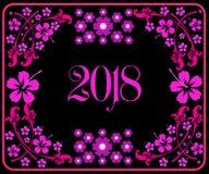 Szczęśliwy nowy rok 2018 z tłem Obraz Royalty Free