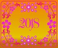 Szczęśliwy nowy rok 2018 z tłem ilustracja wektor