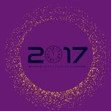 Szczęśliwy nowy rok z złotym błyskotliwości tłem Złoty błyskotliwość wektor Obraz Royalty Free
