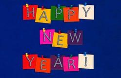 Szczęśliwy nowy rok! Znak dla nowy rok wigilii świętowań obraz royalty free