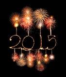 Szczęśliwy nowy rok - 2015 zrobili sparkler Zdjęcia Stock