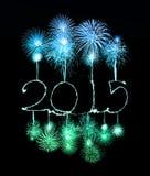 Szczęśliwy nowy rok - 2015 zrobili sparkler Obrazy Royalty Free