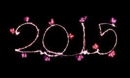Szczęśliwy nowy rok - 2015 zrobili sparkler Zdjęcia Royalty Free