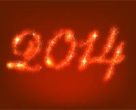 Szczęśliwy nowy 2014 roku. ilustracja wektor