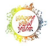 szczęśliwy odznaka nowy rok Obrazy Royalty Free