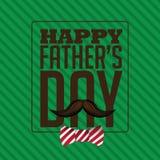 Szczęśliwy ojca dnia łęku krawata projekta EPS 10 wektor Fotografia Stock