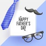 Szczęśliwy ojca dnia świętowania szablonu, plakata projekt z ilustracją lub, ilustracja wektor