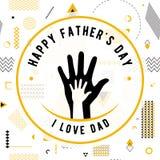 Szczęśliwy ojca dnia życzeń projekta wektor royalty ilustracja
