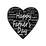 Szczęśliwy ojca dnia Duży serce Zdjęcia Stock
