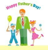 Szczęśliwy ojca dnia flyerdesign Obrazy Royalty Free