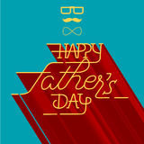 Szczęśliwy ojca dnia kartka z pozdrowieniami Fotografia Royalty Free