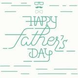 Szczęśliwy ojca dnia kartka z pozdrowieniami Obrazy Royalty Free