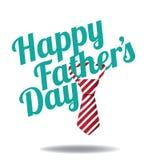 Szczęśliwy ojca dnia krawata projekta EPS 10 wektor Obraz Royalty Free