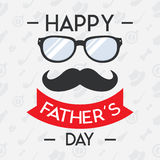Szczęśliwy ojca dnia pojęcie dla sztandaru, zaproszenie Zdjęcie Royalty Free