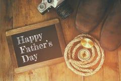Szczęśliwy ojca dnia pojęcie rocznik filtrujący i tonujący Obraz Stock