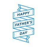 Szczęśliwy ojca dnia powitania emblemat zdjęcia stock