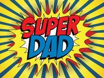 Szczęśliwy ojca dnia Super bohatera tata Obrazy Royalty Free