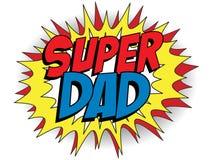 Szczęśliwy ojca dnia Super bohatera tata Fotografia Royalty Free