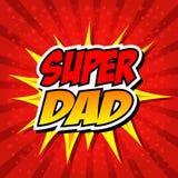 Szczęśliwy ojca dnia Super bohatera tata Obraz Royalty Free