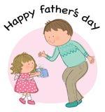Szczęśliwy ojca dzień Zdjęcia Stock