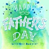 Szczęśliwy ojca dzień kartka z pozdrowieniami Zdjęcie Royalty Free